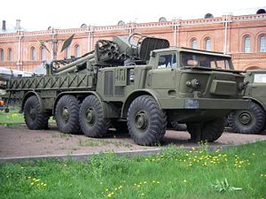 BM-27 Uragan - The 9T452 transporter-loader vehicle at the St Petersburg Artillery Museum