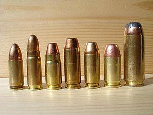 Patronen: 9mm LUGER; 7,62 TOKAREV ; .357 SIG; ...