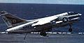 A-7E of VA-105 landing on USS Carl Vinson (CVN-70) 1983.jpg