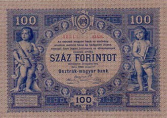 Paper money of the Austro-Hungarian gulden - Image: AHG 100 1880 reverse