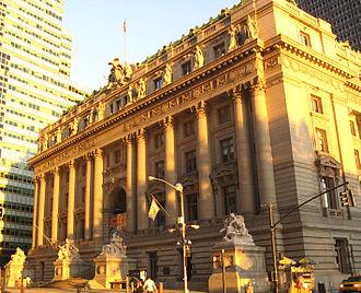 Alexander Hamilton U.S. Custom House - Image: AH Custom house dusk jeh