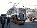 A Luas tram at the junction of Abbey Street and O'Connell Street - geograph.org.uk - 1731848.jpg