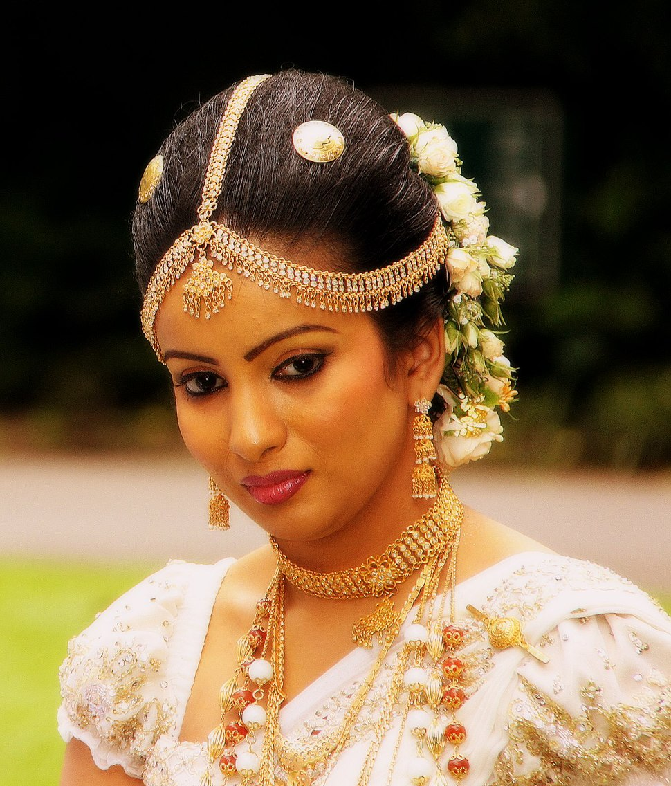 A bride in Sri Lanka specially in Kandy