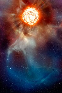 A plume on Betelgeuse (artist's impression).jpg