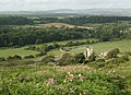 A view of Ogmore Castle and countryside by Merthyr Mawr - geograph.org.uk - 1429117.jpg