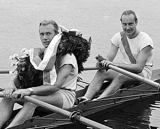 Aage Larsen - Aage Larsen and Ebbe Parsner at the 1949 European championships