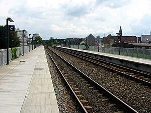 Aalborg Vestby station - Aalborg Vestby station in 2006