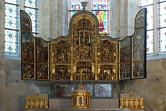 Baume Abbey - The sixteenth-century retable.