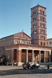 La chiesa abbaziale dell'abbazia di Santa Maria di Grottaferrata.