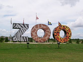 Abilene, Texas - The new Abilene Zoo entrance sign