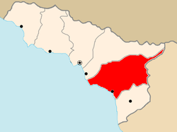 Location of Ochamchire district in AR of Abkhazia