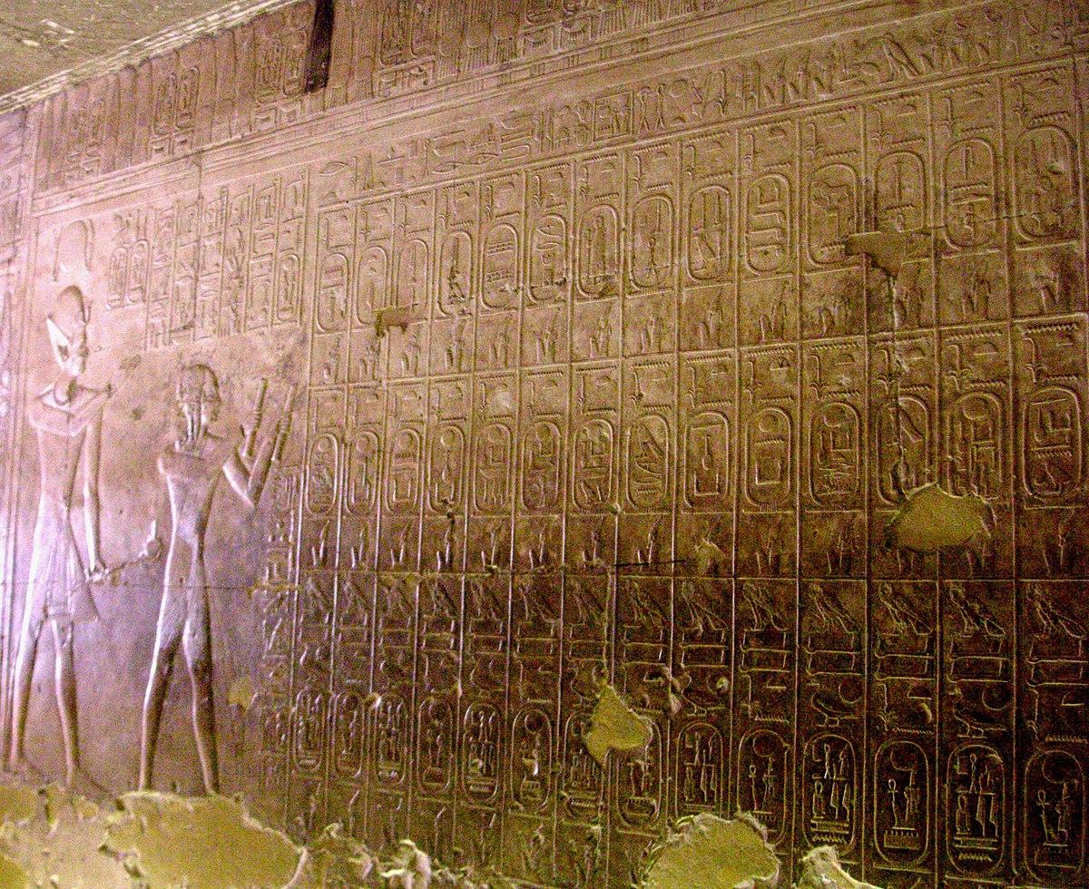 Cronolog a del antiguo egipto wikipedia la enciclopedia - Un ampolla sulla tavola ...