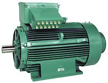 An Type Of Ac Motor With Electrical Terminal Box At The Top And Output Rotating Shaft On Left Such Motors Are Widely Used For Pumps