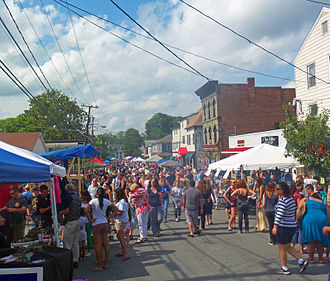 Montgomery (village), New York - Image: Academy Street during General Montgomery Day 2012, Montgomery, NY