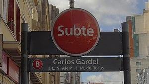 Carlos Gardel (Buenos Aires Underground) - Image: Acceso Est. Gardel (3)