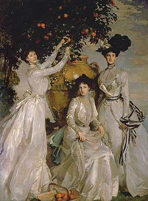 Archibald Acheson, 4th Earl of Gosford - Acheson Sisters (Ladies Alexandra, Mary and Theo Acheson), John Singer Sargent, 1902
