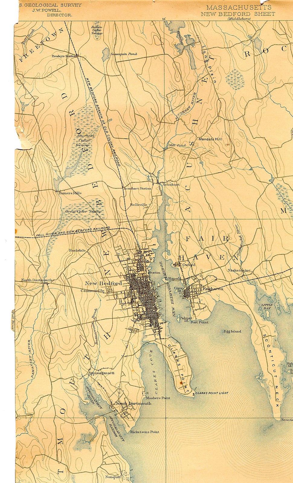 Acushnet River (Massachusetts) map