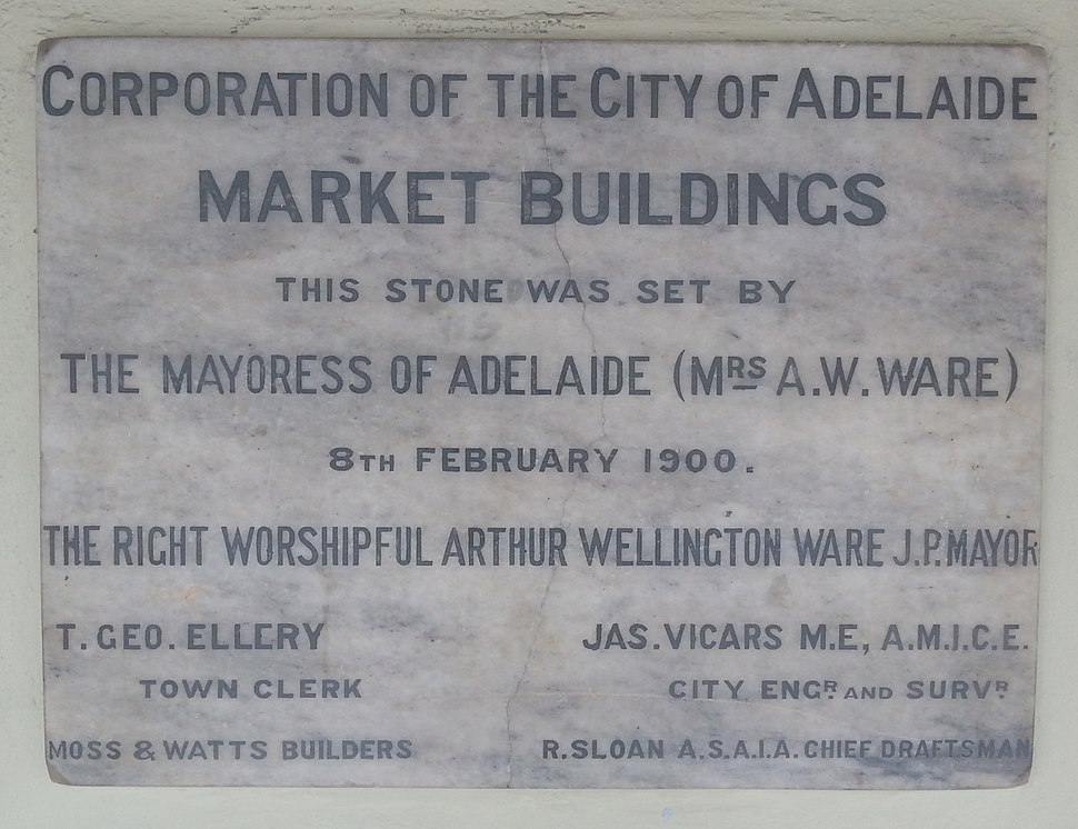 Adelaide Central Market Buildings Foundation Stone