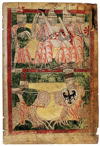 Heinrich von Veldeke - Eneas Romance illustration