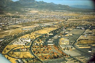 Fort Bliss - Aerial view of Fort Bliss, 1968, with N-El Paso in background.