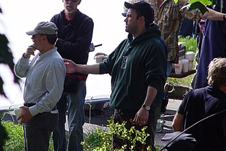 Gone Baby Gone - Affleck directing on set at Meaney Park, Dorchester in May 2006.