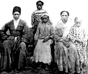 Abkhazians of African descent - Photo of Afro-Abkhazian family from Caucasus.