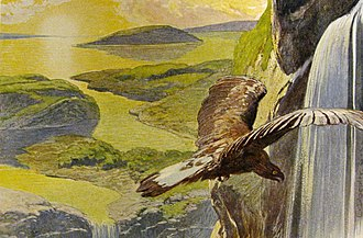 Völuspá - The new world that rises after Ragnarök (depiction by Emil Doepler)