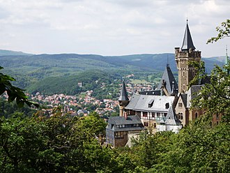 Wernigerode - View over Wernigerode with its castle
