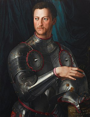 Cosimo I de' Medici, Grand Duke of Tuscany - Cosimo I de' Medici in Armour   By Agnolo Bronzino.