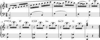 Variation (music) - Ah je vous dirai maman Var 7