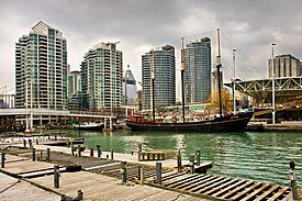 Harbourfront consists of the northern shoreline of Downtown Toronto