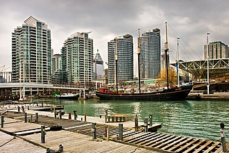Harbourfront (Toronto) - Harbourfront consists of the northern shoreline of Downtown Toronto
