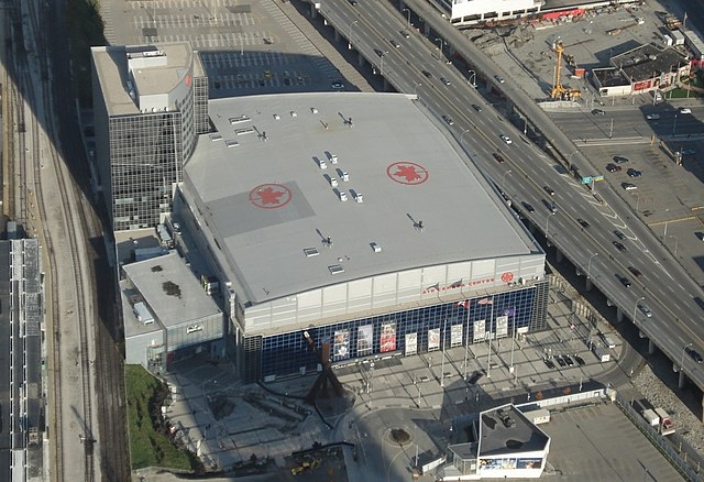 """Air Canada Centre from CN Tower"". Licensed under Public domain via Wikimedia Commons - http://commons.wikimedia.org/wiki/File:Air_Canada_Centre_from_CN_Tower.jpg#mediaviewer/File:Air_Canada_Centre_from_CN_Tower.jpg"