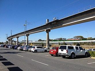Airport railway line, Brisbane - Image: Airtrain, Brisbane 02