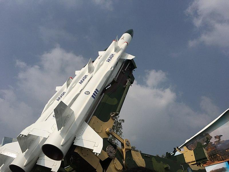 File:Akash SAM Missile at Defence Expo.jpg