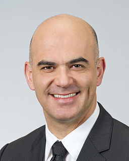 Alain Berset member of the Swiss Federal Council