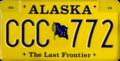 Alaska 1989 license plate.png