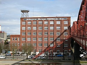 National Register of Historic Places listings in Northwest Portland, Oregon - Image: Albers Milling Company from west Portland Oregon