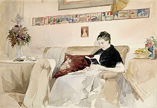 Artist's Wife Reading on the Sofa