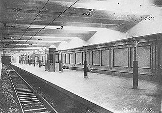 Alberti Norte (Buenos Aires Underground) - The station in 1913.
