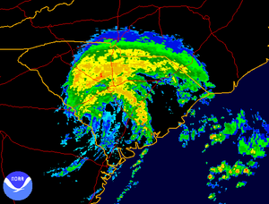 Tropical Storm Alberto (2006) - Tropical Storm Alberto over South Carolina