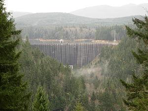 Nisqually River - Image: Alder Dam