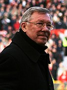 A portrait of Alex Ferguson.
