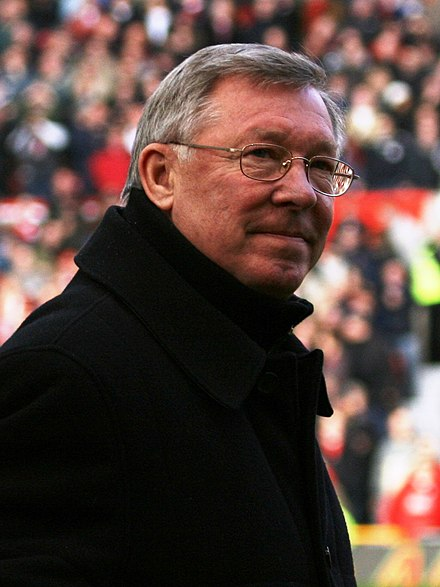 Alex Ferguson winner of the most English Manager of the Year awards, all won during his tenure as manager of Manchester United. As of 2015 he is the UEFA Coaching Ambassador. Alex Ferguson 02.jpg