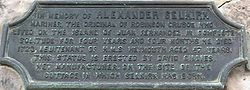 Photo of Alexander Selkirk bronze plaque