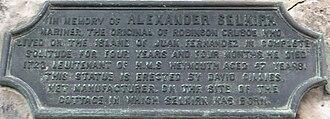 Lower Largo - Plaque for Alexander Selkirk in Lower Largo.