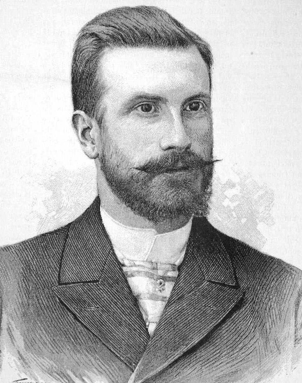 Alfredo Branas Menendez (1859-1900). Writer and ideologue of Galician regionalism. Engraving by Thomas Pijoliu in The Catalan Illustration, 1882