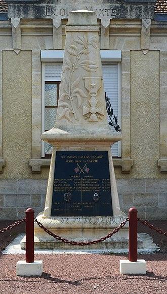 Allas-Bocage - Allas-Bocage War Memorial