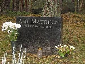 Alo Mattiisen - Alo Mattiisen's grave
