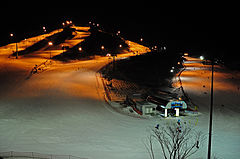 Night Skiing at Alpensia